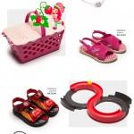 Sandálias com brinquedos: as crianças adoram