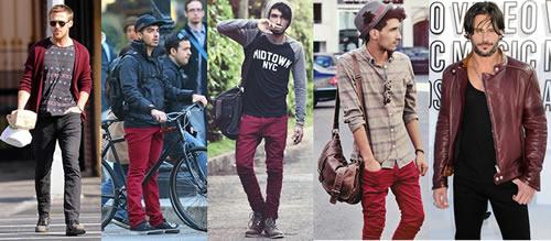 Resultado de imagem para burgundy cor moda masculina